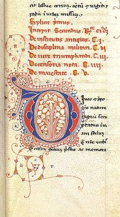 Burney 212 f. 14, British Library. Italy or Spain, 1st half 15th C.