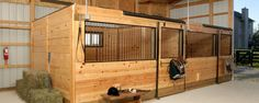Horse barn with stalls, wash, and tack room | Romney, Indiana | FBi Buildings Barn Stalls, Horse Stalls, Dream Stables, Dream Barn, Building A Pole Barn, Building Homes, Barn Layout, Horse Barn Designs, Horse Shelter