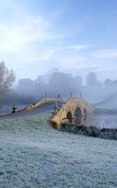 The Oxford Bridge at Stowe, Buckinghamshire, England.