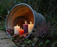Wonderful decor idea for your garden or your home /// Beautiful deco idea for the garden or the home: heart in tin tub - Alles über den Garten
