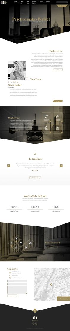 Website Layout: Law on Behance