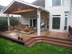 Tnt Builders Albany Or United States Open Gable Patio Cover Over A Trex Brasilia Deck In Nw Corvallis