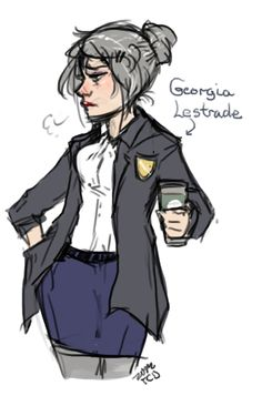 for Anon, a fem!Lestrade! Because of reasons!(was going to add genben!Sally and Donovan, but they looked awful so. uwu)