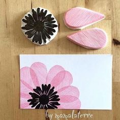 Stamp Carving + Journal Making - the beehive Stamp Printing, Printing On Fabric, Diy And Crafts, Arts And Crafts, Paper Crafts, Fabric Crafts, Stamp Carving, Handmade Stamps, Fabric Painting