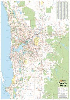 Perth & Region Hema 1000 x Supermap Paper Wall Map Iconic Australia, Wall Maps, Perth, Diagram, Wallpaper, Google Search, Wallpapers