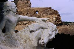 Crazy Horse Memorial, a work in progress. Amazing man made wonder of the world. The work started  in 1948 and is far from finished. It was commissioned by Henry Standing Bear a Lakota elder.