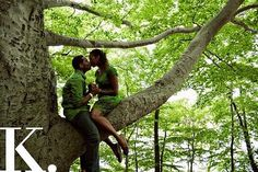 sitting in a tree...k-i-s-s-i-n-g!  First comes love...then comes marriage!