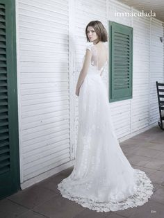 Bohémske svadobné šaty od španielskej dizajnerky Inmaculada Garcia. Lace Wedding, Wedding Dresses, Salons, Fashion, Dress Ideas, Bride Dresses, Moda, Bridal Gowns, Lounges