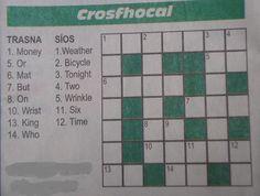 crosfhocal » Crossword