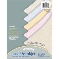 Parchment Bond Paper Assortment