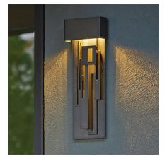 Collage Outdoor LED Tall Wall Sconce by Hubbardton Forge
