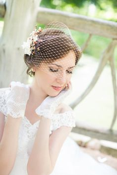 pink bridal bandeau veil, wedding birdcage veil, small pale pink veil, white bridal bird cage veil - BLUSHY - custom made, many colors Veil Hairstyles, Wedding Hairstyles With Veil, Wedding Veils, Wedding Dresses, Wedding Fascinators, Bridal Headpieces, Diy Wedding, Flower Veil, Vintage Veils