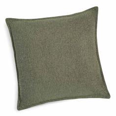 Coussin en tissu vert lichen 45 x 45 cm CHENILLE