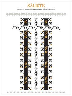 Semne Cusute: din TRANSILVANIA Hungarian Embroidery, Folk Embroidery, Embroidery Patterns, Knitting Patterns, Cross Stitch Borders, Cross Stitching, Cross Stitch Patterns, Beading Patterns, Traditional