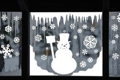 Items similar to Snowman Window Decal Clings - Reusable Snowman Window Clings - Winter Window Stickers - Christmas Decals - on Etsy - Window Clings Classroom Window Decorations, Snow Decorations, Preschool Classroom Decor, Christmas Window Decorations, Christmas Decals, Christmas Diy, Christmas Snowman, White Christmas, Window Clings