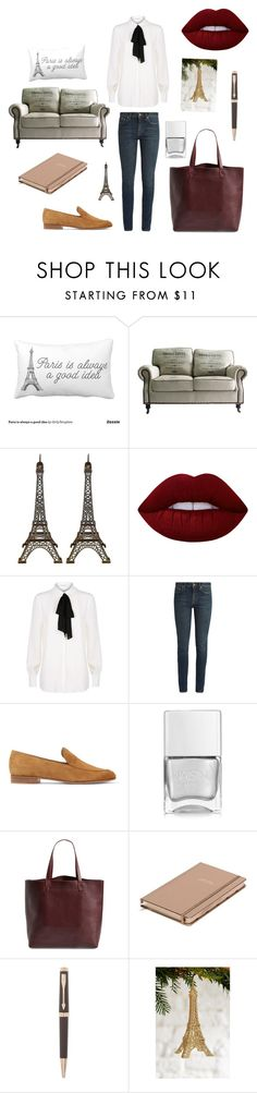 """""""September?"""" by nicky-jane-neary on Polyvore featuring Lime Crime, Claudie Pierlot, Yves Saint Laurent, Gianvito Rossi, Nails Inc., Madewell, Kate Spade and Parker"""