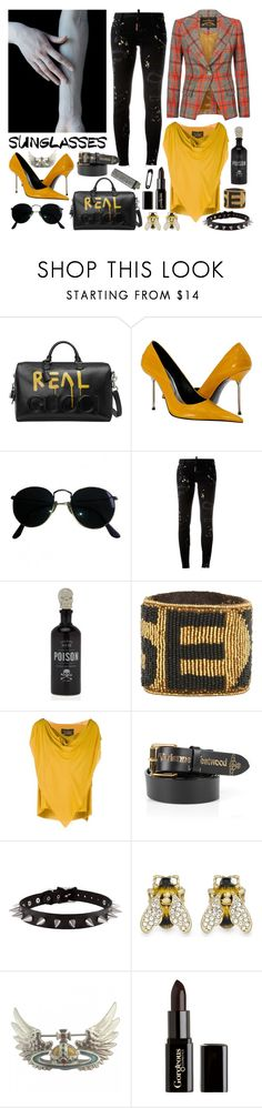 """""""Westwood is my life"""" by nothingisnormal ❤ liked on Polyvore featuring Gucci, Ray-Ban, Dsquared2, Vivienne Westwood Anglomania, Vivienne Westwood, Gorgeous Cosmetics and RetroSunglasses"""