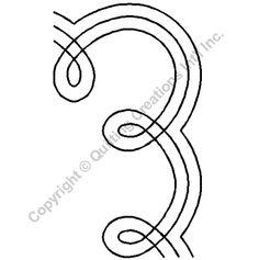 "Quilting Stencils > Misc Border - Item: 7.75"" on QuiltingCreations.com"