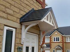 Sedgefield Duo Pitch GRP Door Canopy - Composite Porch Door Canopies - HOME IMPROVEMENT
