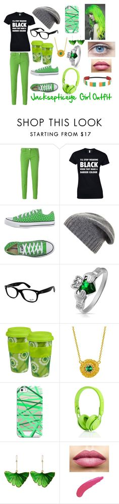 """""""Jacksepticeye Girl Outfit"""" by foresstsarefulloflife ❤ liked on Polyvore featuring Jacob Cohёn, Converse, BCBGMAXAZRIA, Ray-Ban, Bling Jewelry, Könitz, Susan Wheeler Design, Casetify, Aurélie Bidermann and TheBalm"""