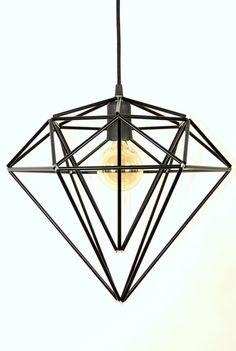 Himmeli Light Diamond Pendant Cage Edison Style Geometric Black matte Lamp Chandelier  _______________________________  Himmeli art    Himmeli is an