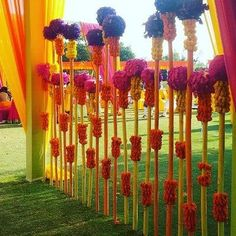Flower mashaals! #Traditional #flowers #colourpop #IndianWedding #Decor | Curated by #WittyVows - The ultimate guide for the Indian Bride | www.wittyvows.com