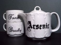 Deadly tea set.