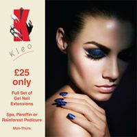 KleoBeautyRichmond: Special Offers FULL SET OF NAIL EXTENSIONS, SPA, PARAFFIN, RAINFOREST PEDICURE £25 ONLY!