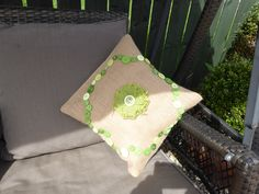 Garden Party with Canvas Corp pillows canvas burlap