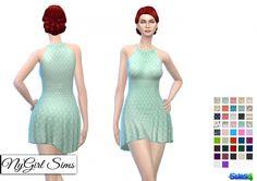 Halter Skater Dress at NyGirl Sims • Sims 4 Updates
