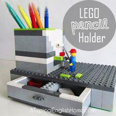A Typical English Home: DIY Lego Pen Holder