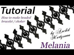 """Tutorial: Gothic necklace """"Mylene Farmer"""" (part 1 of / Колье """"Милен. Beaded Flowers Patterns, Beaded Bracelet Patterns, Beaded Bracelets, Lace Bracelet, Making Bracelets With Beads, Jewelry Making Beads, Seed Bead Jewelry, Bead Jewellery, Bead Jewelry"""