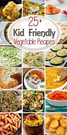 25+ Kid Friendly Vegetable Recipes ~ Tons of Vegetable Recipes That Even The Pickiest Eaters Will Eat! Everything From Peas, Carrots, Zucchini and Broccoli! ~ http://www.julieseatsandtreats.com: