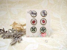 Resin Earrings Post Earrings Stud Earrings Ladybug Earrings