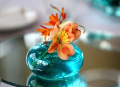 teal stained glass flowers | English (US)