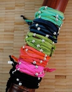 Old tshirts into cute bracelets!