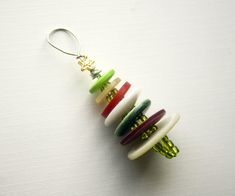 buttons & beads ornament