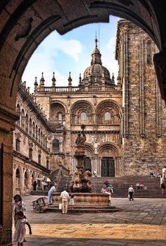 Plaza de Quintana, Santiago de Compostela, La Coruña, España
