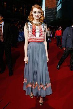 Emma Stone wearing a Chanel dress