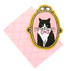 Tuxedo Cat Mini Card Set