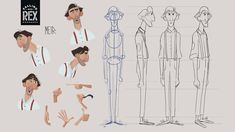 Rex on Behance Animation Storyboard, Animation Reference, Art Reference Poses, Flat Design Illustration, Character Illustration, Illustration Art, Character Design Animation, Character Design References, Simple Character