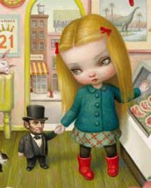 "(Detail) ""The Butcher Bunny"" by Mark Ryden"