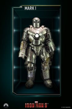 The Mark I (Mark was the first Iron Man suit built and created by Tony Stark. It was built in the initial events of the live-action film, Iron Man.