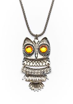 KENNETH JAY LANE Large Owl Necklace