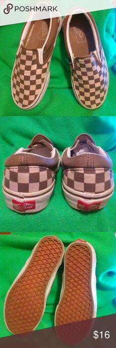 Vans women Vans Size 6 Light peach and brown color Great condition Vans Shoes Sneakers