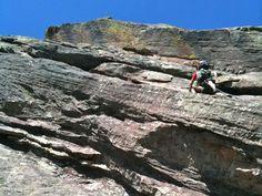 Climbing First Flatiron, Boulder ©2011 Middle Aged Ski Bum