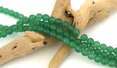 20 Perles aventurine pierre naturelle ronde vert jade 6mm PV2016010 : Perles…