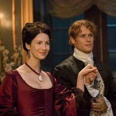 *NEW* Still of Caitriona Balfe and Sam Heughan as Claire and Jamie Fraser in Outlander Season 2