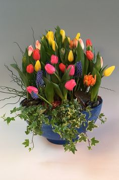 Tulip Welcome Planter