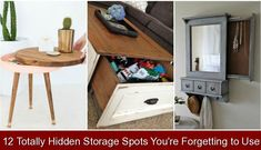 12 Totally Hidden Storage Spots You're Forgetting to Use {339987} #hidden #storage #ideas #hiddenstorageideas We all have secrets — and the best ones lead to a more organized home. Secret Storage, Hidden Storage, Storage Shelves, Storage Spaces, Shelving, Storage Solutions, Storage Ideas, Creative Storage, Diy Home Decor Projects